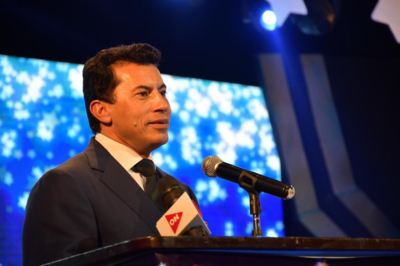 وزير الرياضة خلال ختام فعاليات مهرجان talent بالعربي