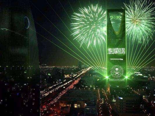 احتفالات الرياض باليوم الوطني للمملكة العربية السعودية