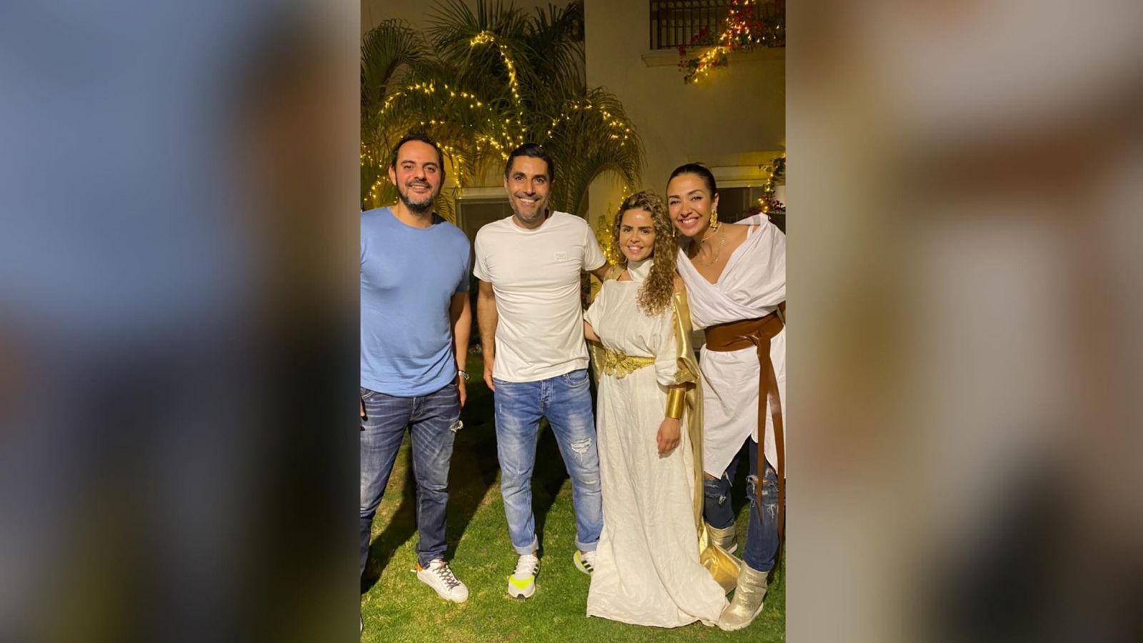 (صور).. الفنانين يجتمعون على فطار رمضاني فى منزل الإعلامية شيرين حمدي