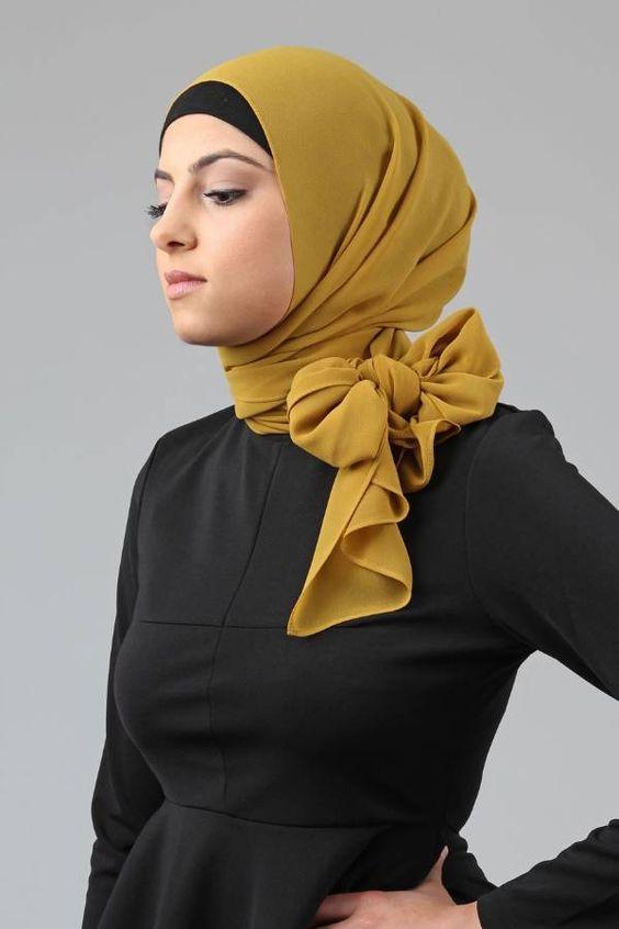 موسوعه طرق لف الطرح والحجاب للمناسبات والأفراح 2020 للمحجبات 1cbb175382397f7fad5a