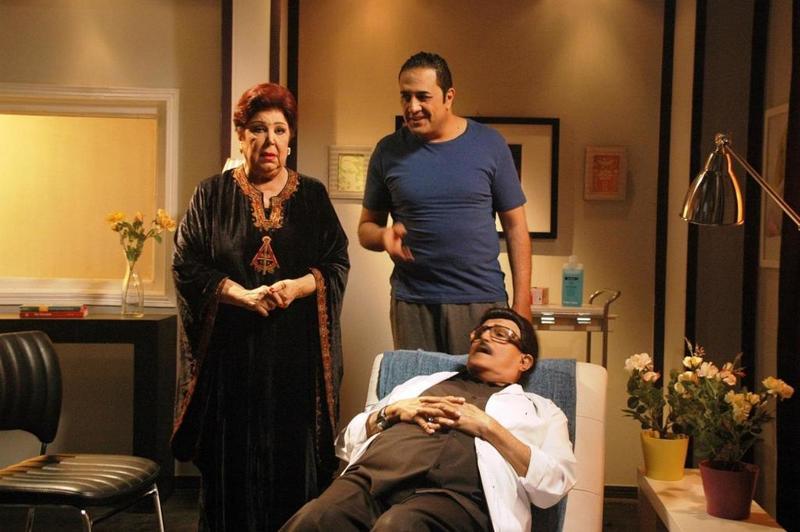 رجاء الجداوي وسيمر غانم من مسلسل يوميات زوجة مفروسة أوي