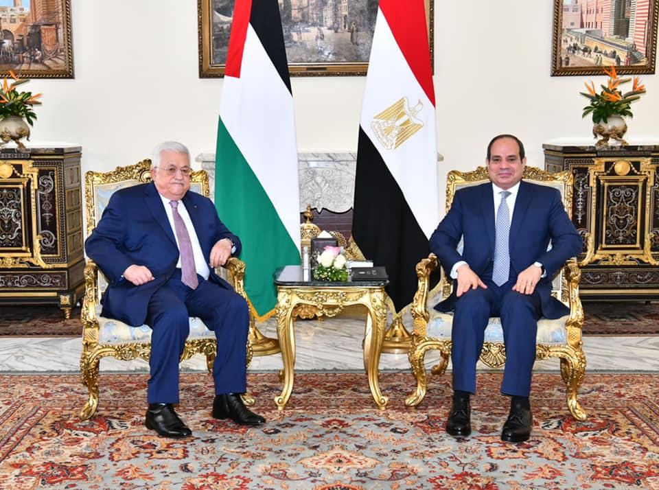 الرئيس عبدالفتاح السيسي والرئيس الفلسطيني