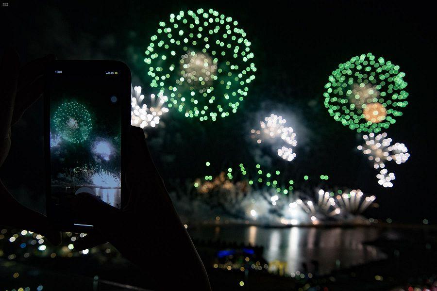 احتفالات جدة باليوم الوطني للمملكة العربية السعودية
