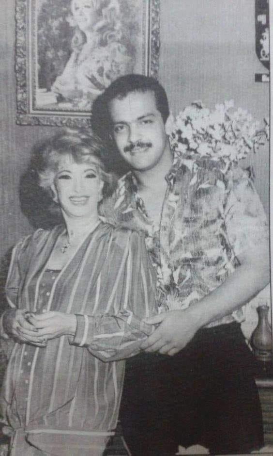 مها صبري مع ابنها