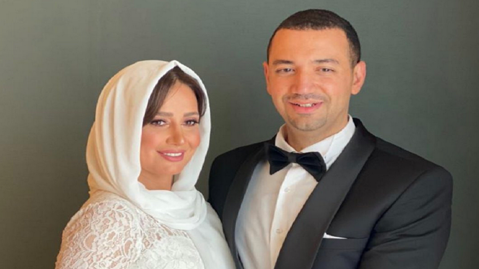 حلا شيحة وزوجها معز مسعود