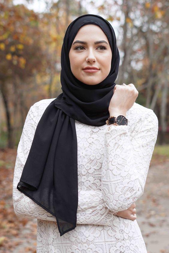 موسوعه طرق لف الطرح والحجاب للمناسبات والأفراح 2020 للمحجبات 8ea71631e762d22a9d49