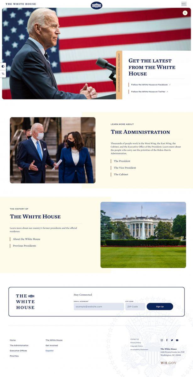 موقع البيت الأبيض الرسمي