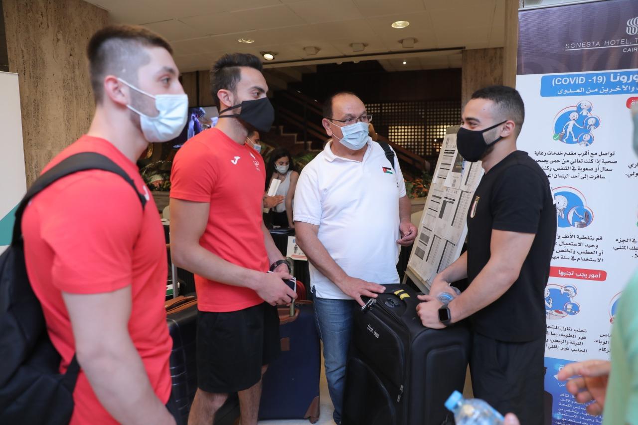 منتخب مصر للجمباز يصل فندق الإقامة استعدادا لكأس العالم للجمباز الفني