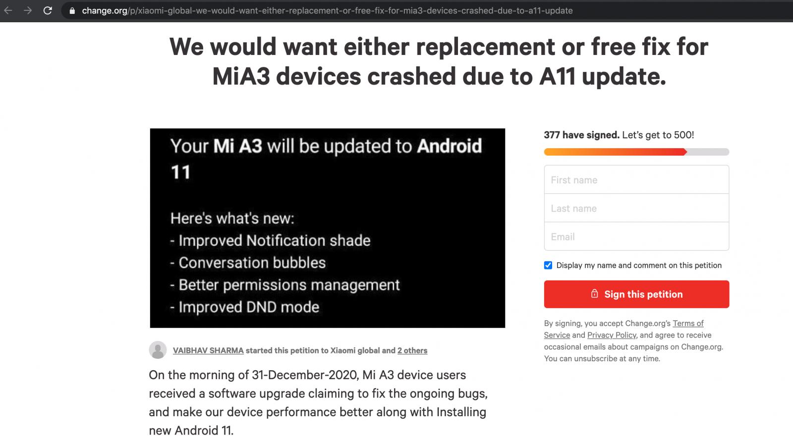 Xiaomi M1 A3