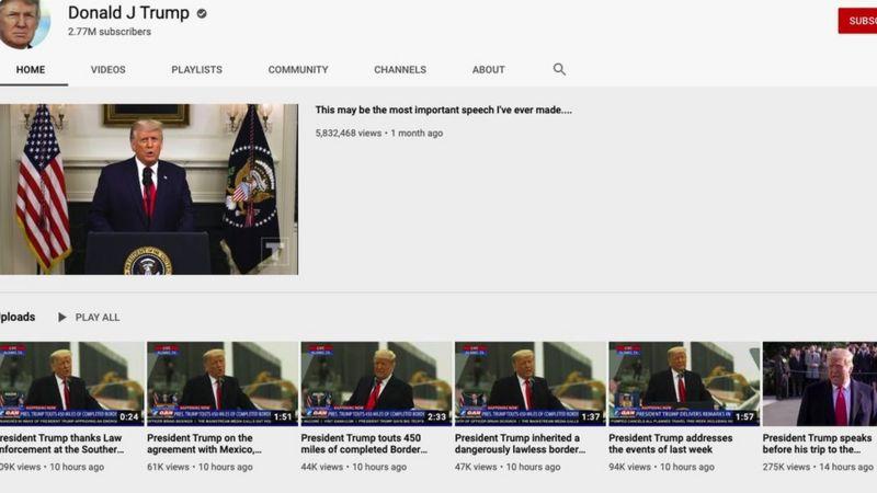 قناة دونالد ترامب على يوتيوب