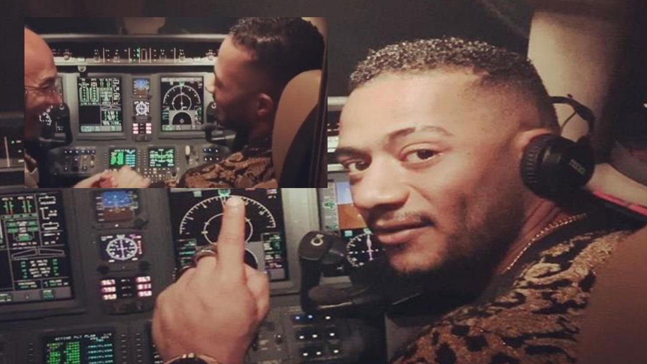 صورة محمد رمضان والطيار المفصول