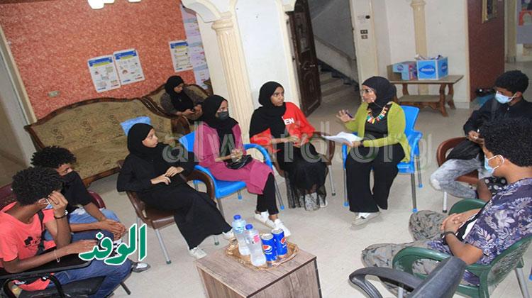 الشباب اللاجئين الاريترين في استضافة الوفد