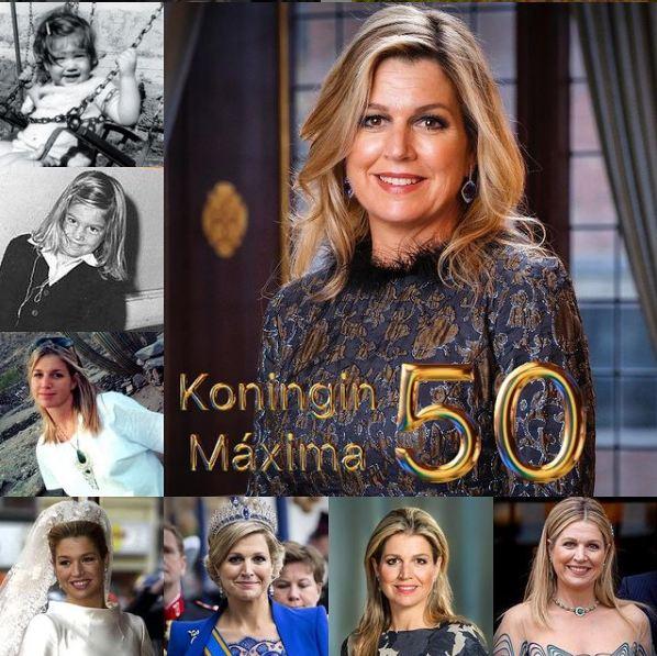 الملكة ماكسيما  تحتفل بعيد ميلادها الخمسين