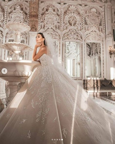 الصور الأولي لحفل زفاف جيسيكا عازار
