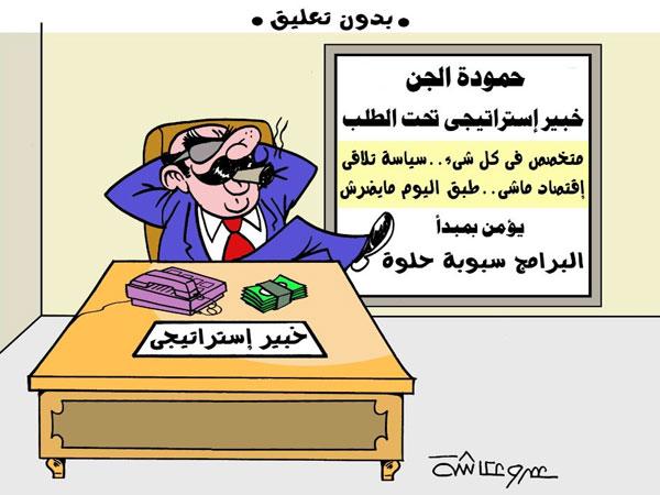 الخبير الاستراتيجى في كاريكاتير الوفد