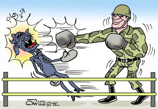 مباراة سيناء في كاريكاتير الوفد