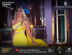 ليلي شندول مقدمة IFA  international Fashion Awards